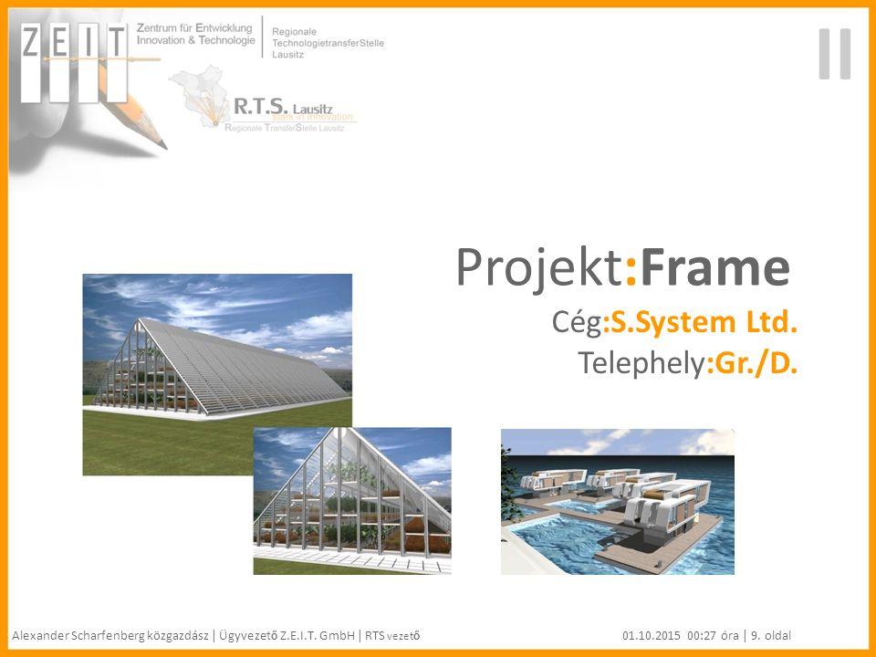 II Projekt:Frame Cég:S.System Ltd. Telephely:Gr./D.