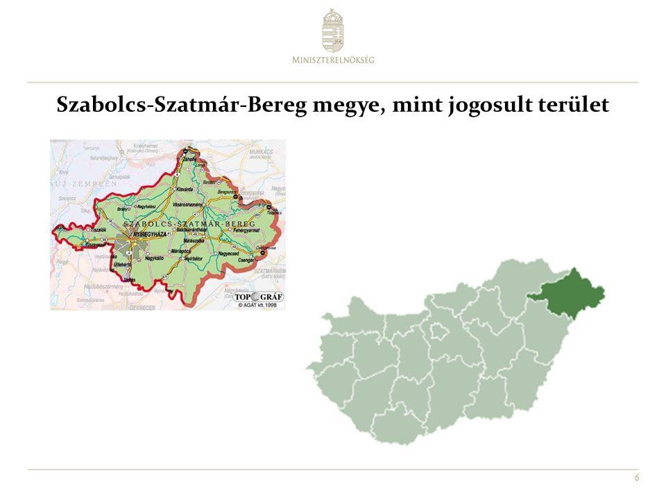 6 Szabolcs-Szatmár-Bereg megye, mint jogosult terület