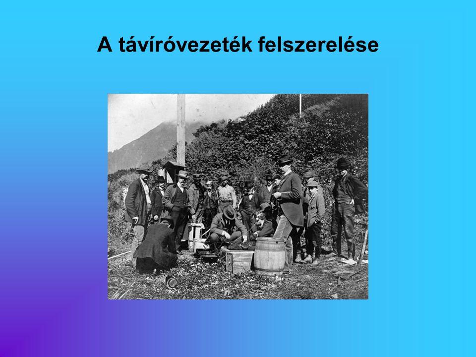 A távíróvezeték felszerelése
