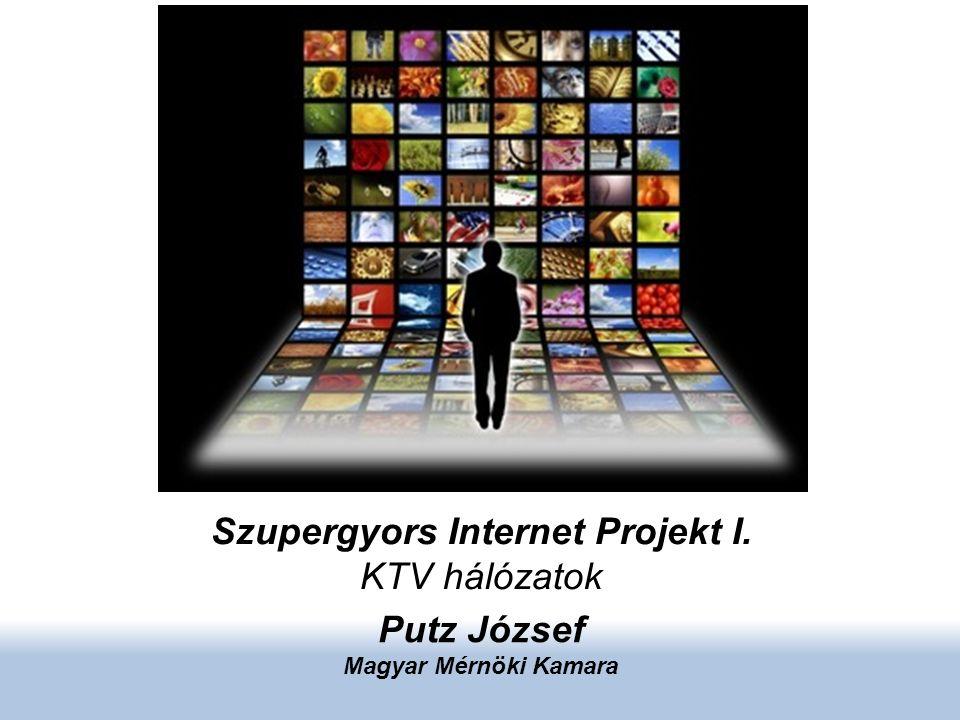 Szupergyors Internet Projekt I. KTV hálózatok Putz József Magyar Mérnöki Kamara