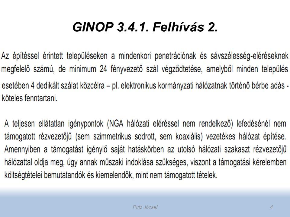 GINOP 3.4.1. Felhívás 2. Putz József4