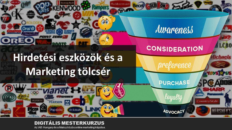 Hirdetési eszközök és a Marketing tölcsér DIGITÁLIS MESTERKURZUS Az IAB Hungary és a Maksz közös online marketing képzése.