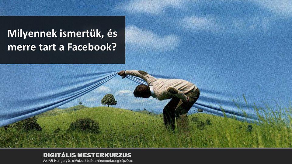 Milyennek ismertük, és merre tart a Facebook? DIGITÁLIS MESTERKURZUS Az IAB Hungary és a Maksz közös online marketing képzése.