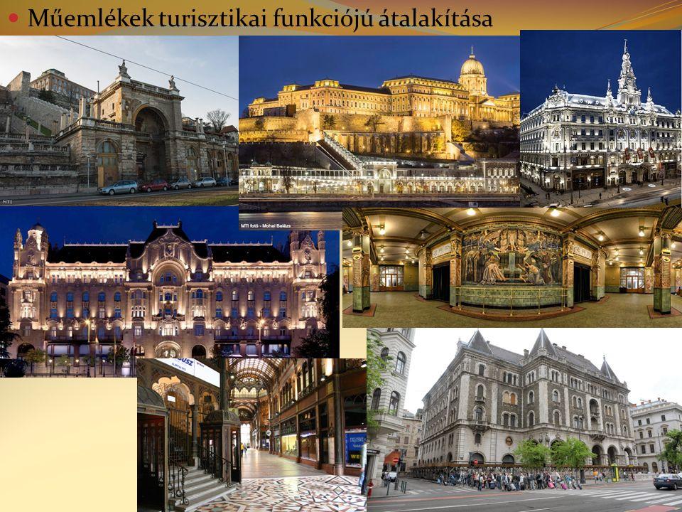 Műemlékek turisztikai funkciójú átalakítása