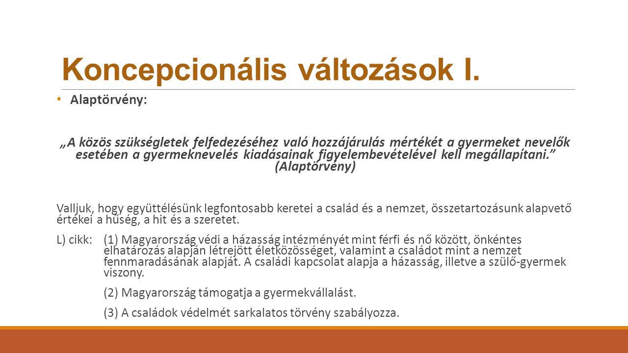 Koncepcionális változások II.
