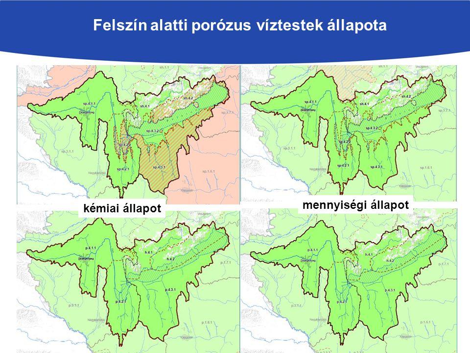 Felszín alatti porózus víztestek állapota kémiai állapot mennyiségi állapot