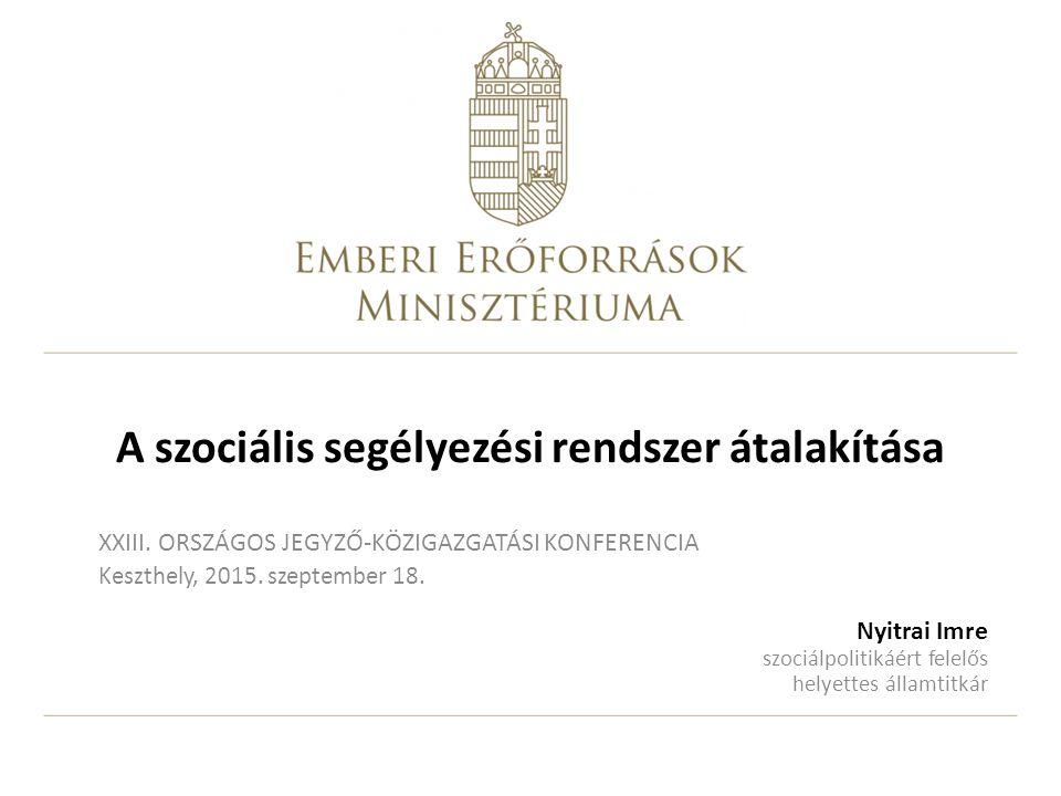 2 Áttekintés A szociális segélyezési rendszer 2015.