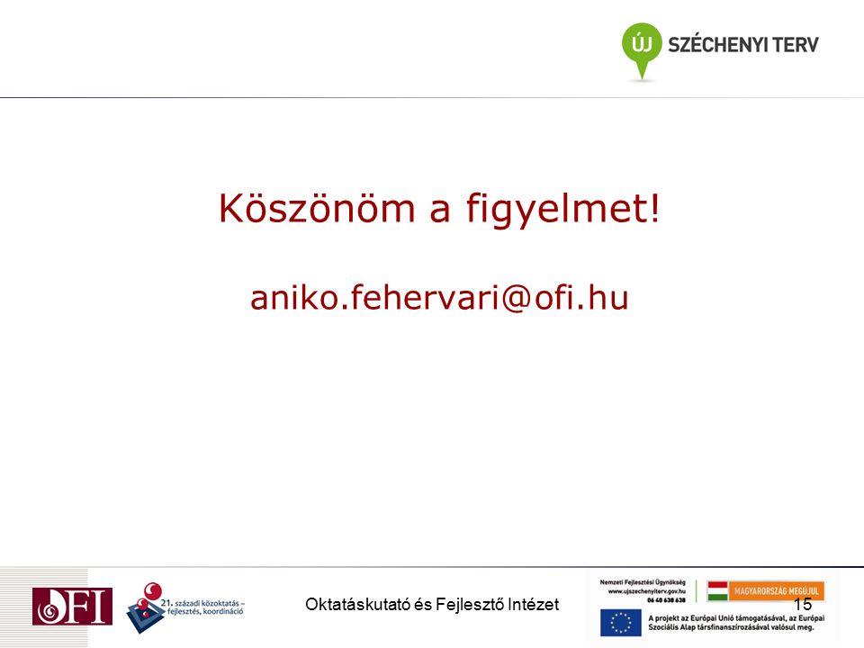 Oktatáskutató és Fejlesztő Intézet15 Köszönöm a figyelmet! aniko.fehervari@ofi.hu