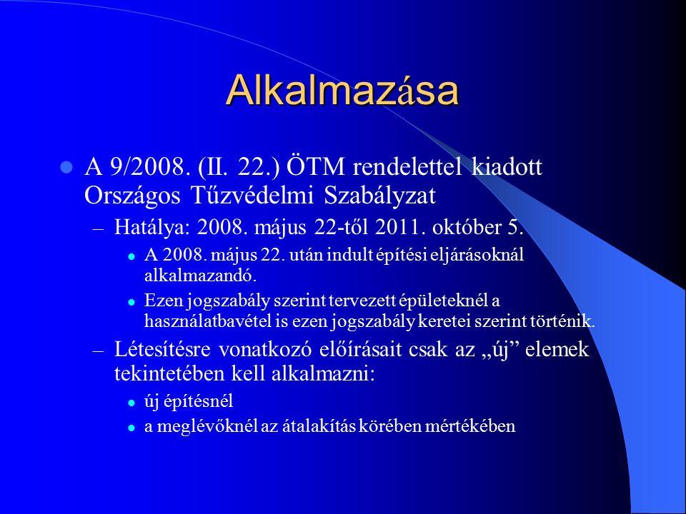 Alkalmaz á sa A 9/2008. (II.