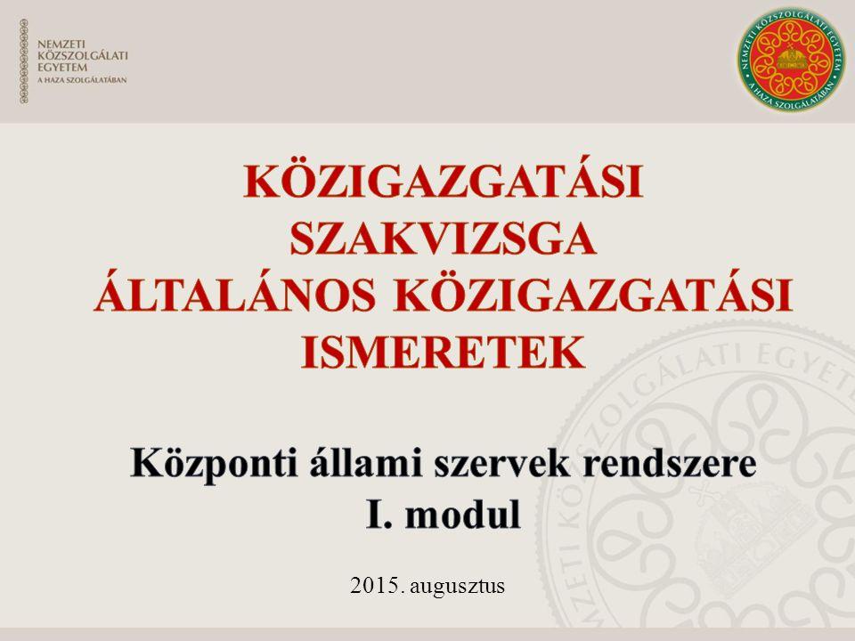 A magyar alkotmányfejlődés vázlata 1949-ig történeti alkotmány Szuverenitás elvesztése 1944.