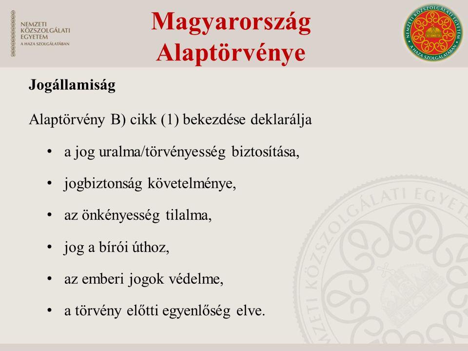 Az egyesülési (és szervezkedési) jog Helye az alapjogi rendszerben Részjogosultságai (létrehozás/csatlakozás/ működtetés/cél megválasztása/részvétel) Tilalmak Kötelező kamarai tagság kérdése Magyarország Alaptörvénye