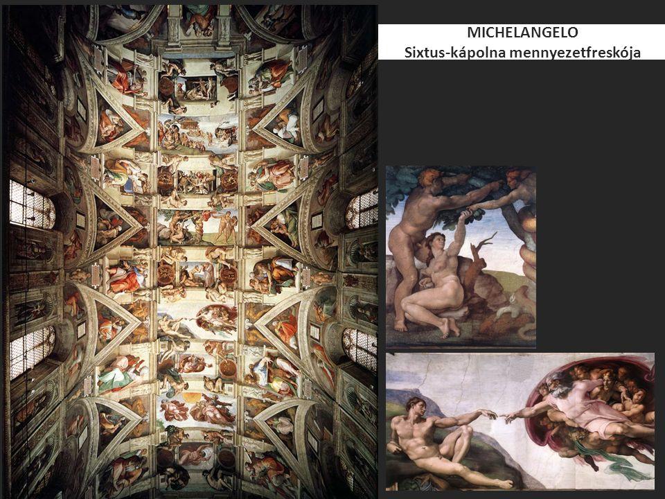 MICHELANGELO Sixtus-kápolna mennyezetfreskója