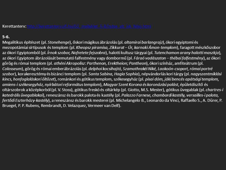 Kerettanterv: http://kerettanterv.ofi.hu/02_melleklet_5-8/index_alt_isk_felso.htmlhttp://kerettanterv.ofi.hu/02_melleklet_5-8/index_alt_isk_felso.html