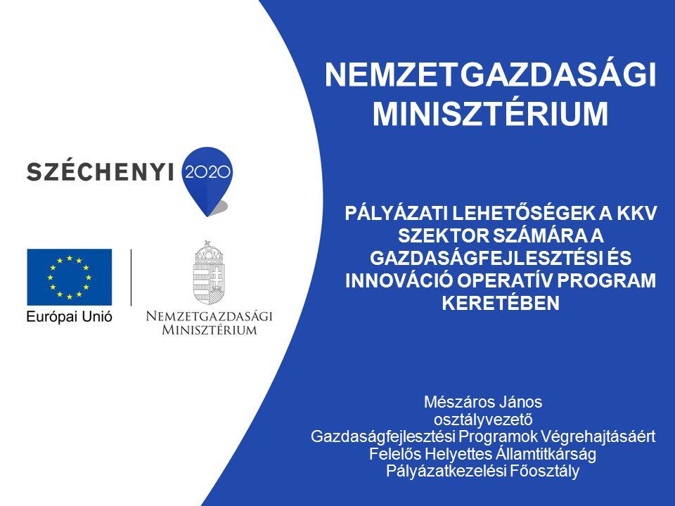 Gazdaságfejlesztési Programok Végrehajtásáért Felelős Helyettes Államtitkárság Új intézményi rendszer – 2014.
