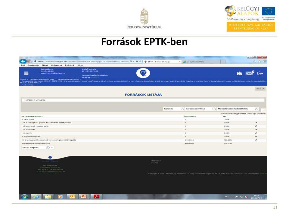 21 Források EPTK-ben