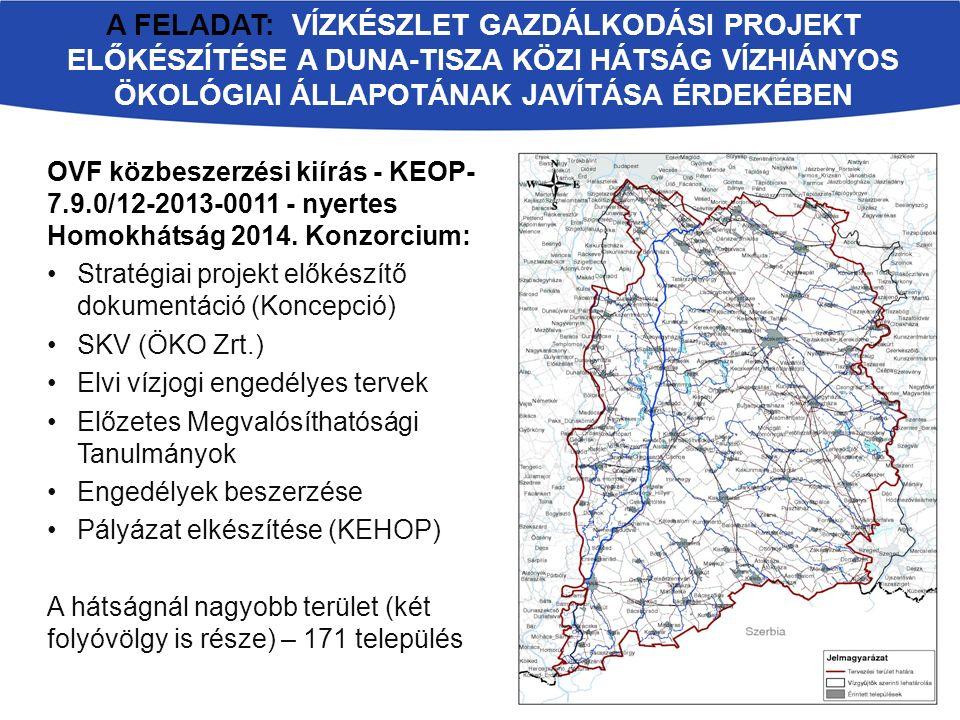 Az alapcél mellett az alábbi szempontokat kellett vizsgálni: térség megtartó képessége természetvédelem, környezetvédelem hagyományos tájgazdálkodás modernizációja vízgazdálkodás (belvízelvezetés, belvíztározás stb.) mezőgazdasági vízhasznosítás (öntözés, talajvízdúsítás, tógazdaságok stb.) lakossági- ipari vízellátás és esetleges katasztrófa helyzeti víztározás rekreáció, üdülés, sport vízerő hasznosítás Tisza-völgyi vízpótlás vízi közlekedés A KONCEPCIÓ ALAPCÉLJA: A HOMOKHÁTSÁG ÖKOLÓGIAI ÁLLAPOTÁNAK JAVÍTÁSA
