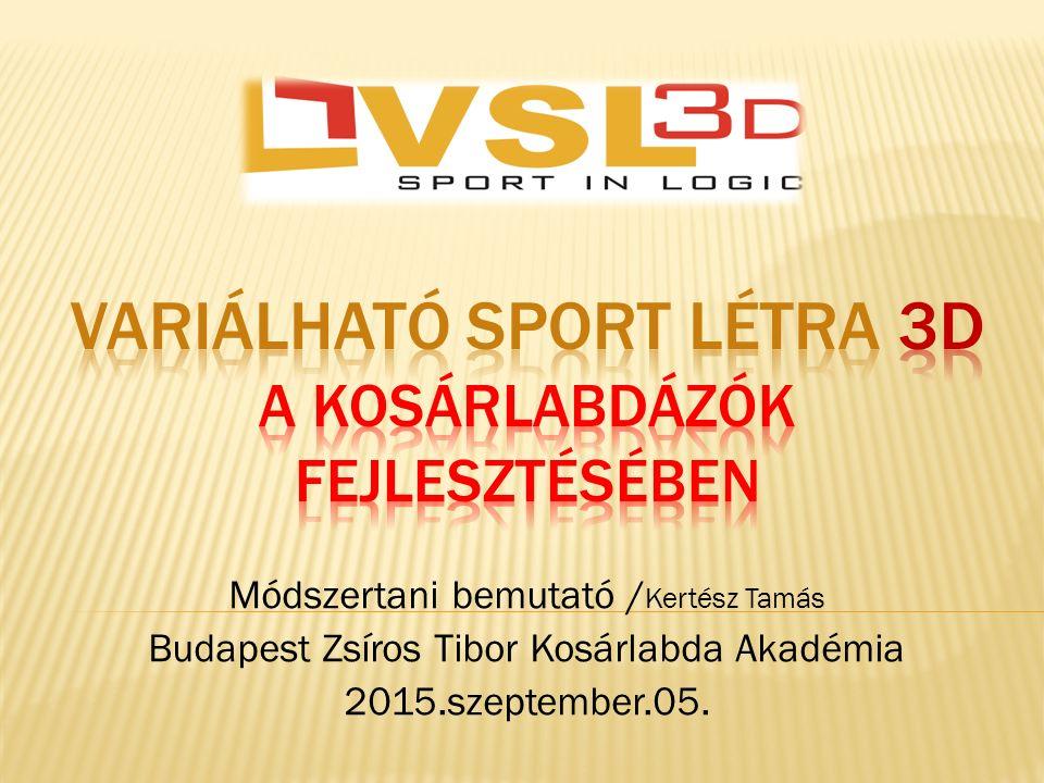 Módszertani bemutató / Kertész Tamás Budapest Zsíros Tibor Kosárlabda Akadémia 2015.szeptember.05.