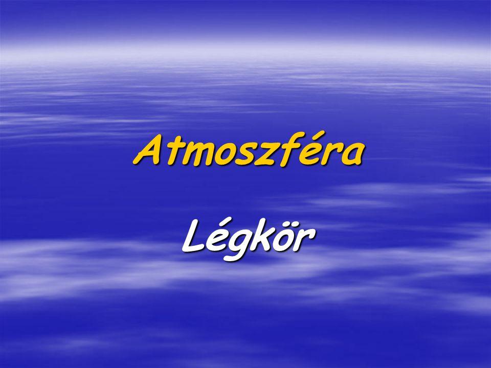 Atmoszféra Légkör