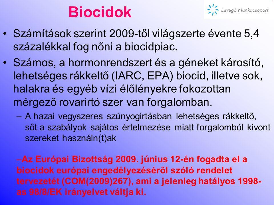 Növényvédő szerek Hazánkban növényvédő szert forgalmazni és felhasználni az '50-es évek óta csak a hatósági engedélyokirattal lehet. EU 2004-etután tö