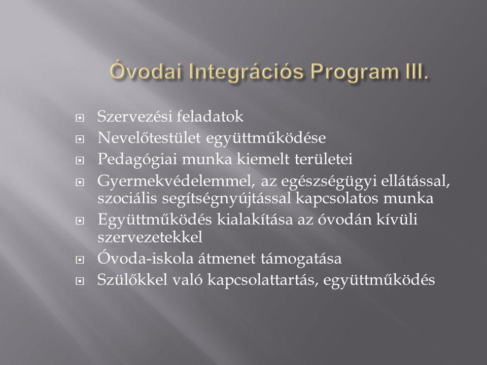  OOIH - Országos Oktatási Integrációs Hálózat - Labáth Ferencné óvodai szakértő - IPR szakértők –óvodai-iskolai-