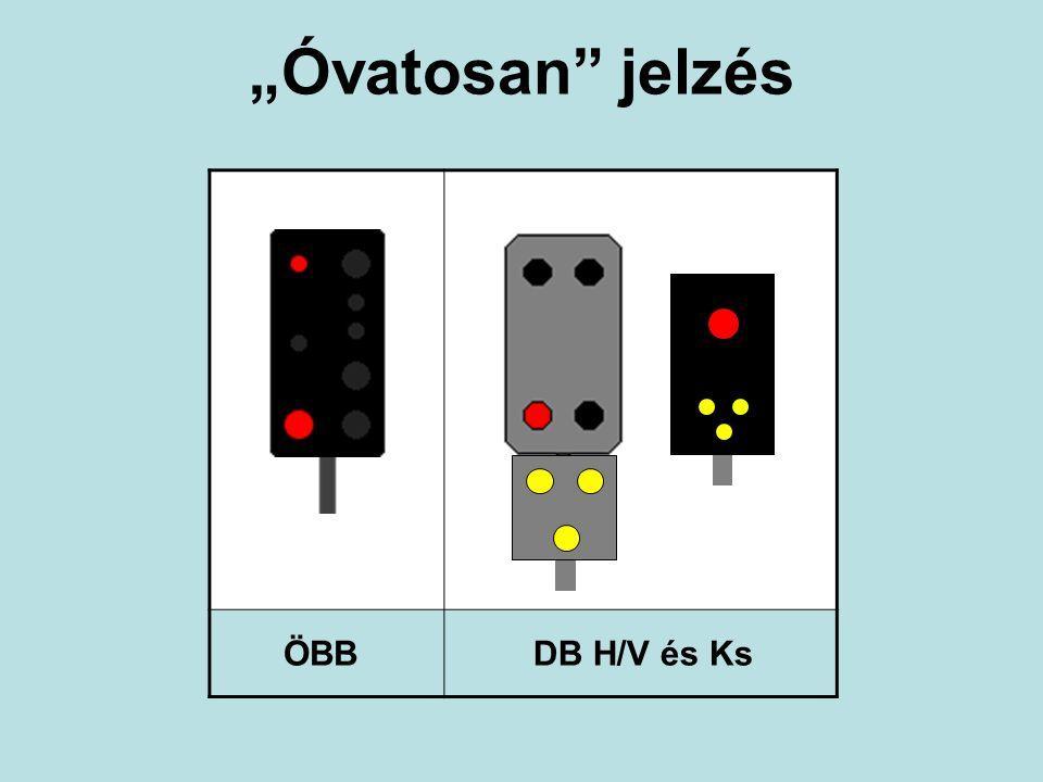 """Óvatosan"" jelzés ÖBBDB H/V és Ks"