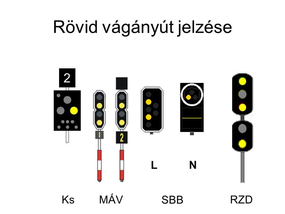 Rövid vágányút jelzése Ks L N 2 RZDMÁV SBB