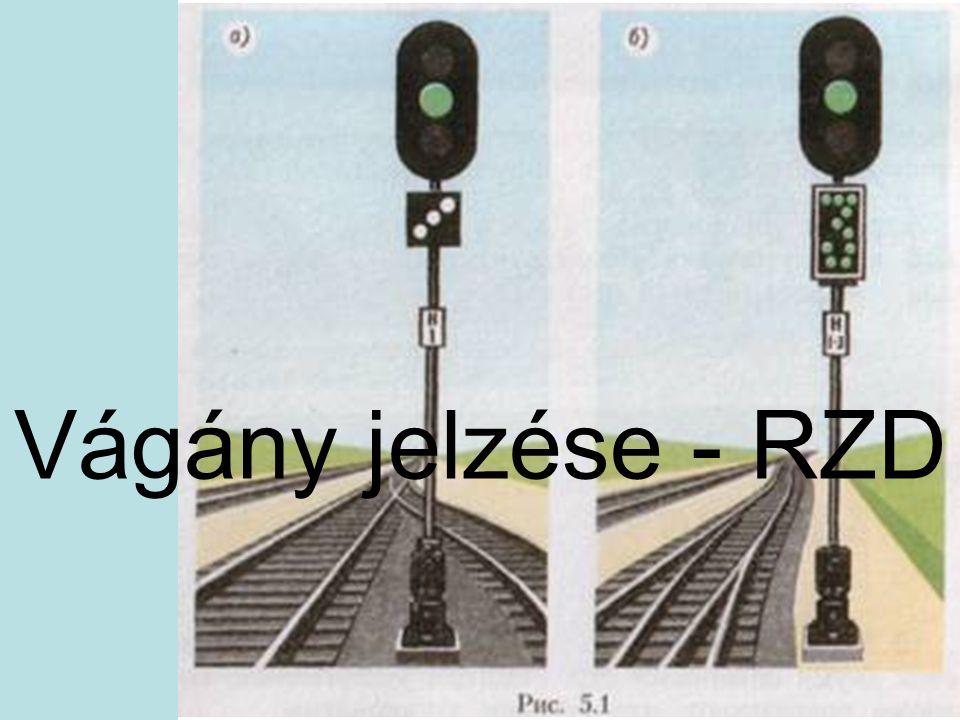 Vágány jelzése - RZD