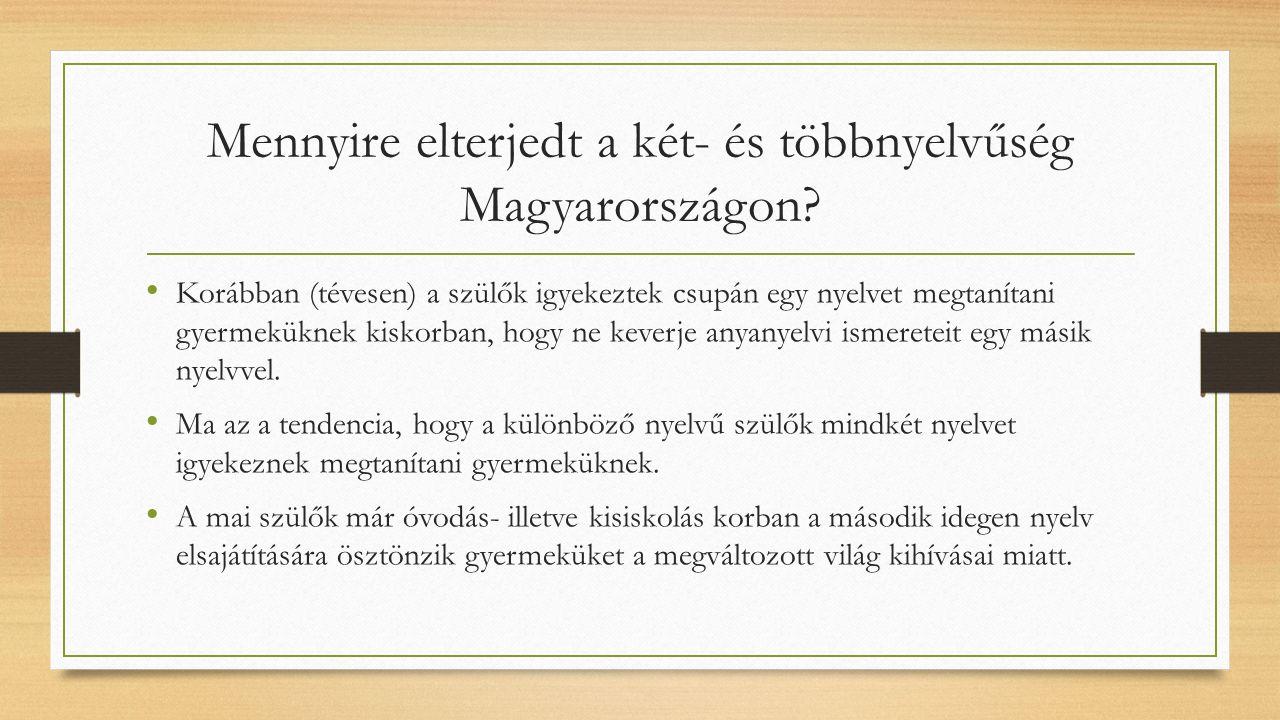 Mennyire elterjedt a két- és többnyelvűség Magyarországon.
