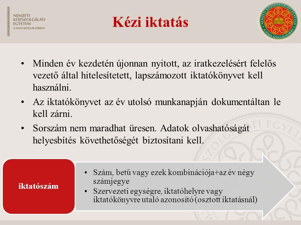 Elektronikus iktatás Iratkezelés szoftver 27/2014.