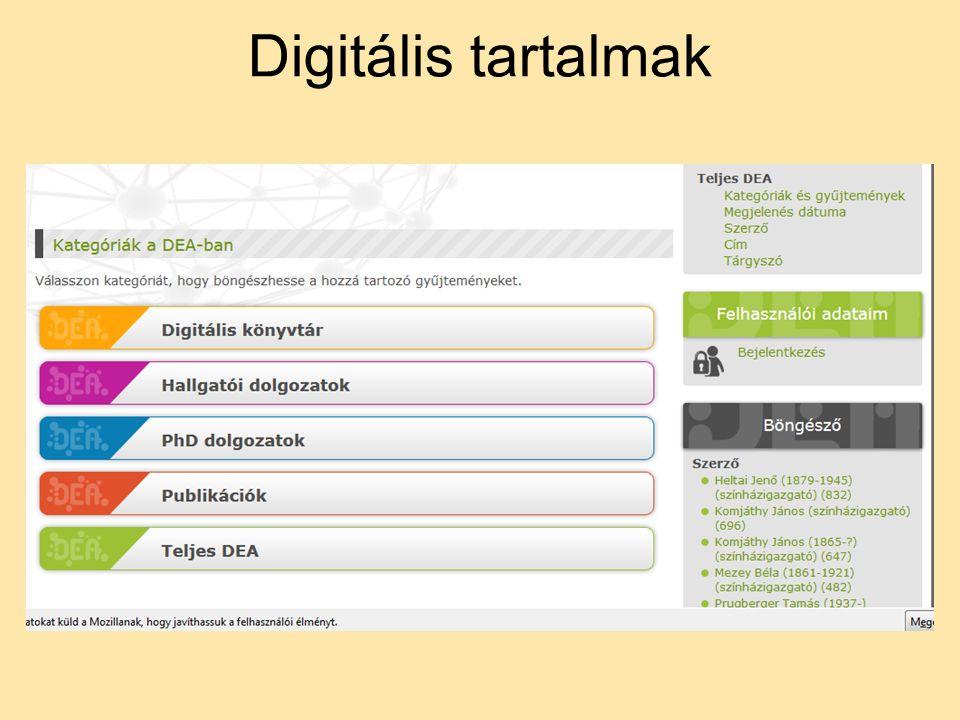 Digitális tartalmak