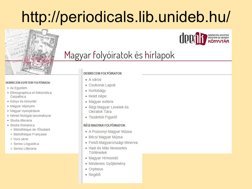 http://periodicals.lib.unideb.hu/