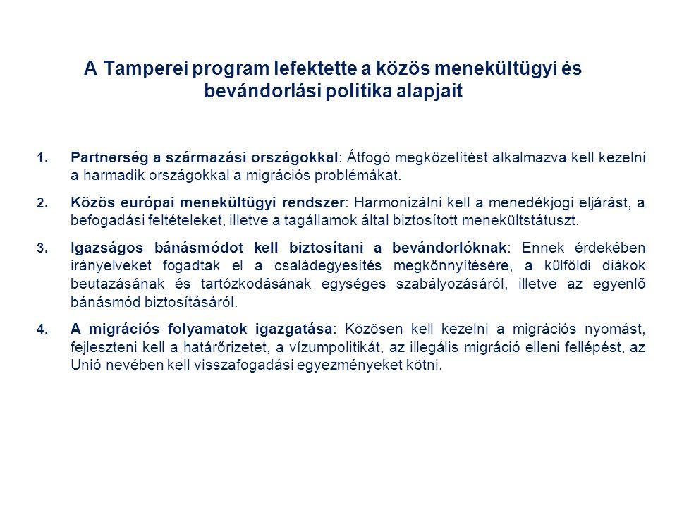 A Tamperei program lefektette a közös menekültügyi és bevándorlási politika alapjait 1.
