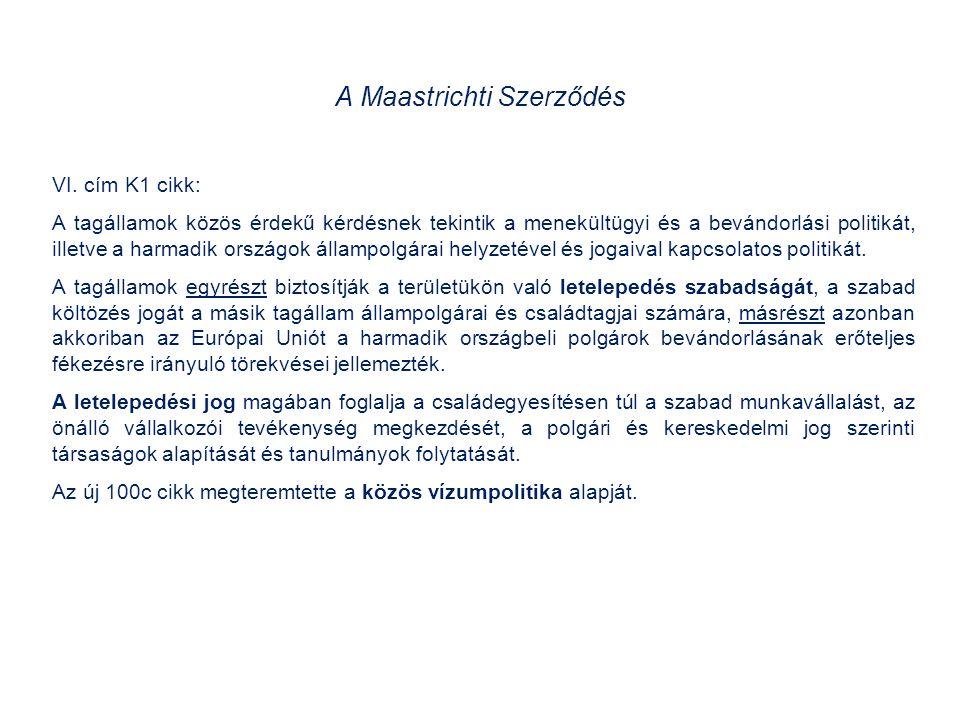 A Maastrichti Szerződés VI.