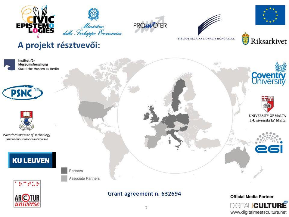 Grant agreement n. 632694 A projekt résztvevői: 7