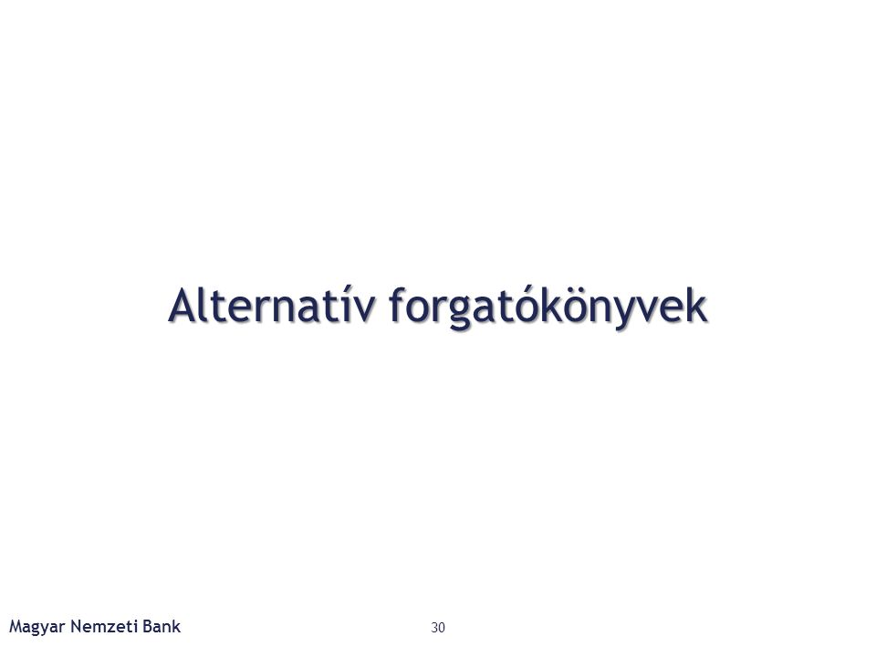 Alternatív forgatókönyvek Magyar Nemzeti Bank 30