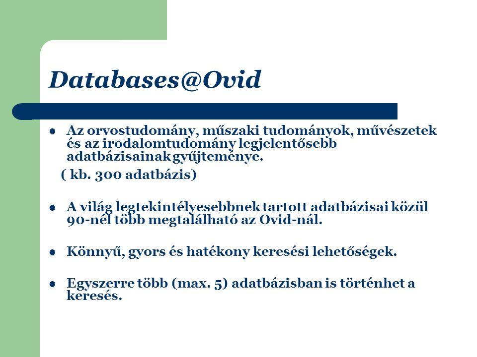 Journals@Ovid 60 kiadó kb.