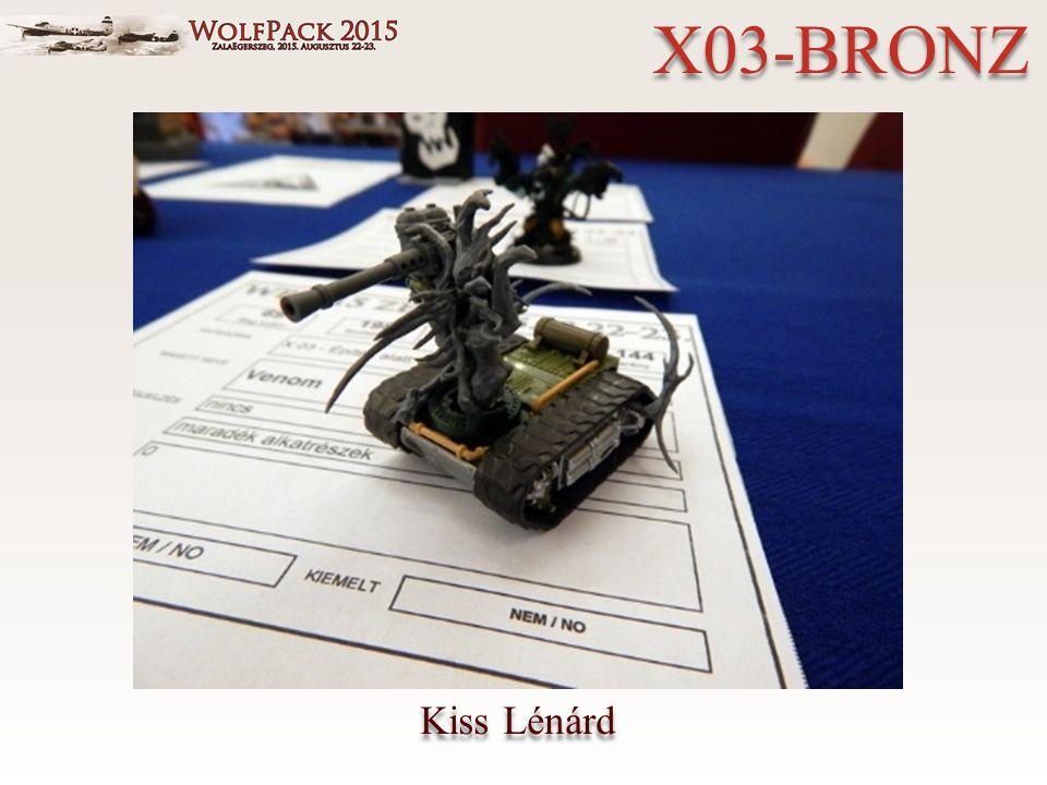 Kiss Lénárd X03-BRONZ