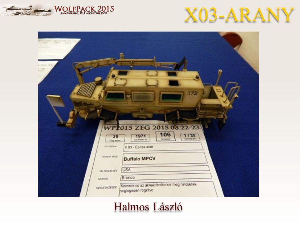 Halmos László X03-ARANY