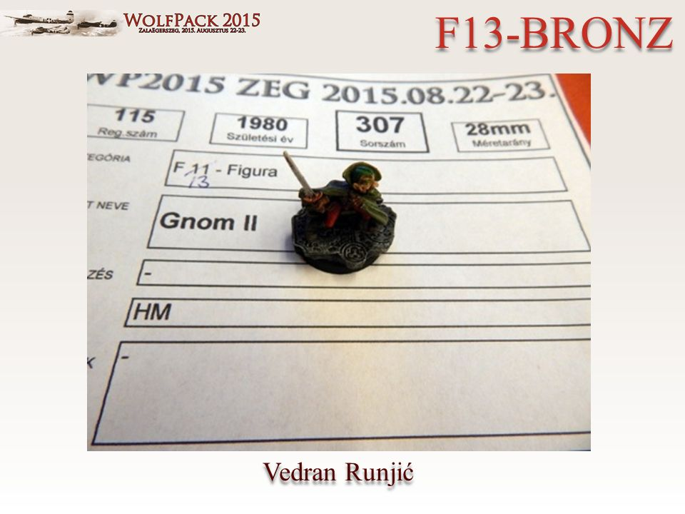 Vedran Runjić F13-BRONZ