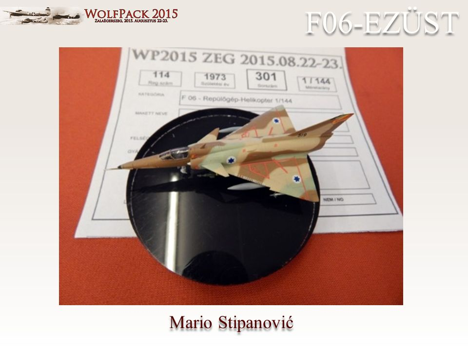Mario Stipanović F06-EZÜST