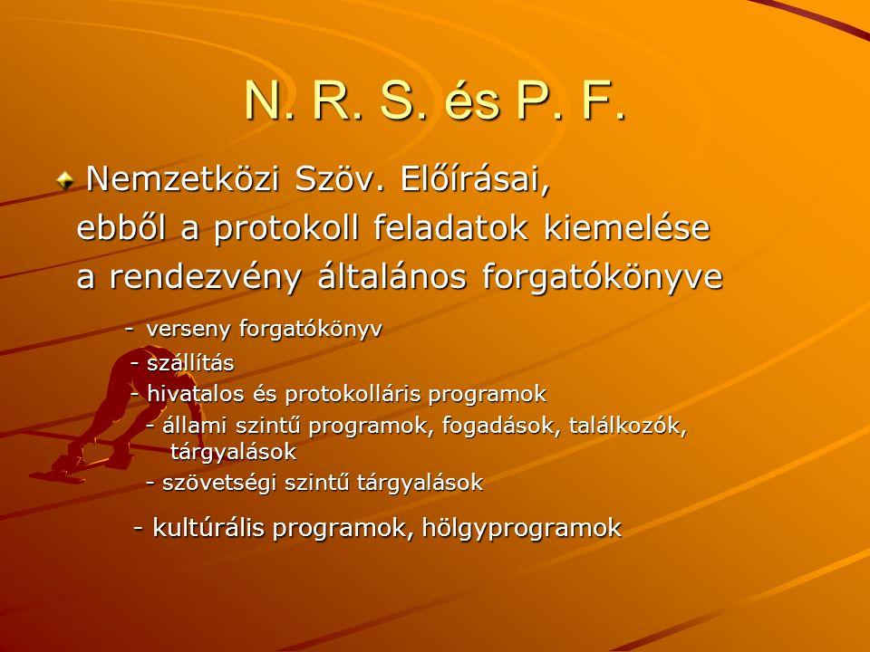 N.R. S. és P. F. Nemzetközi Szöv.