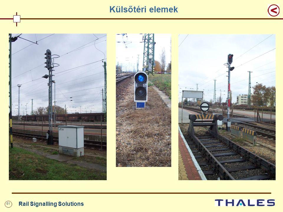 61 Rail Signalling Solutions Külsőtéri elemek