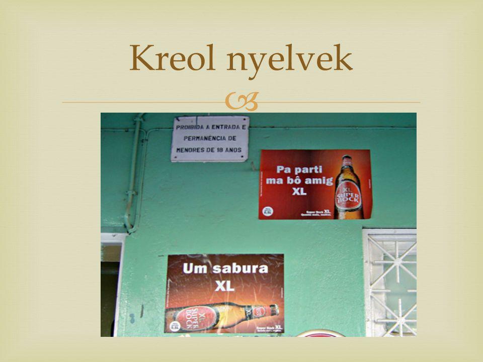  Kreol nyelvek