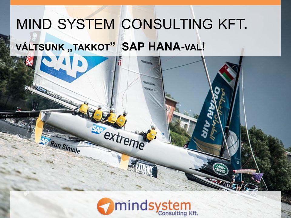 Tartalom Mindsystem bemutatkozik Mi az új a HANA infrastruktúrában Új lehetőségek a HANA-val Egy rövid bemutató