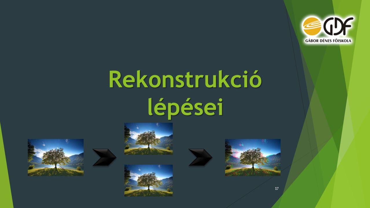 Rekonstrukció lépései 17