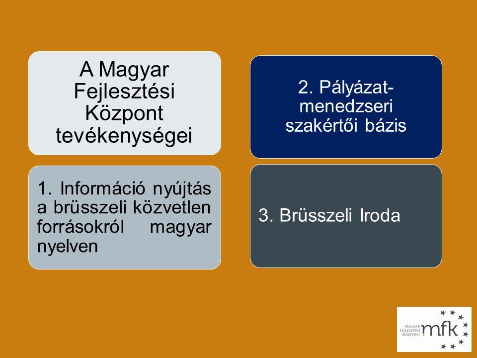 A Magyar Fejlesztési Központ tevékenységei 1.