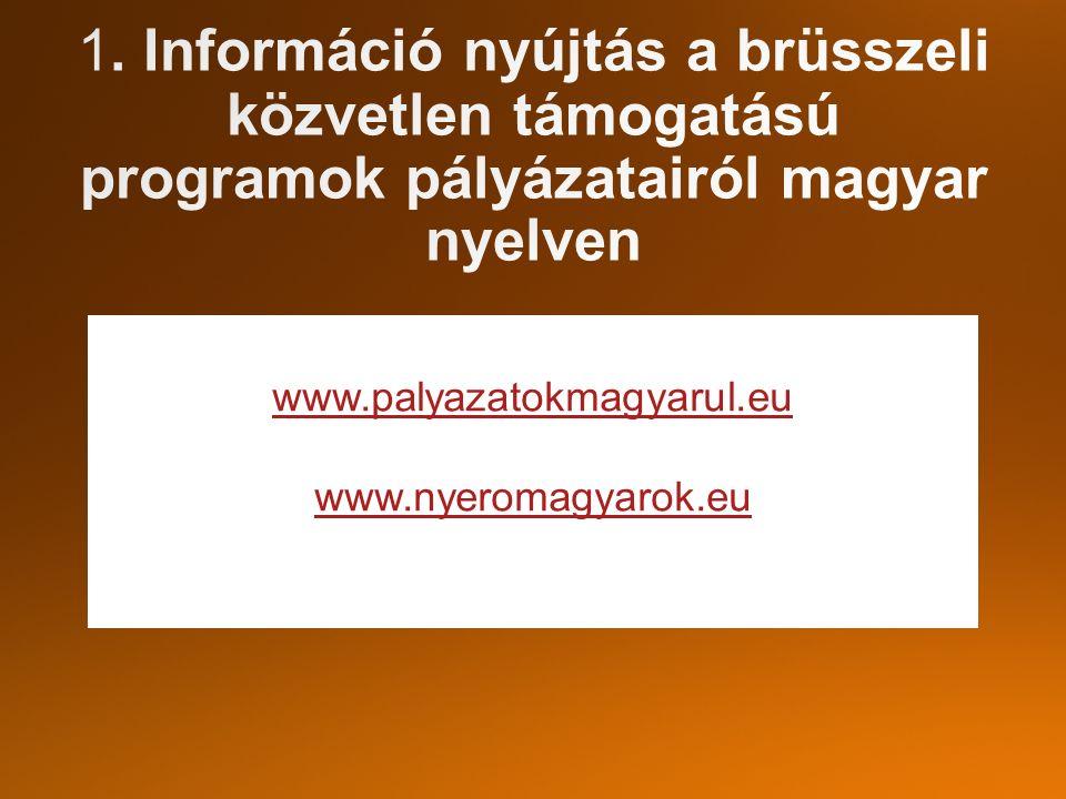 www.palyazatokmagyarul.eu www.nyeromagyarok.eu Facebo
