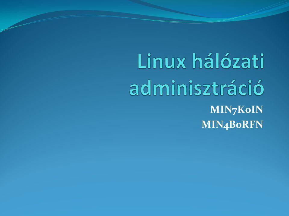 Kiszolgáló telepítése $ sudo apt-get update $ sudo apt-get install isc-dhcp-server Fontosabb állományok szerver oldalon /etc/dhcp/dhcpd.conf /etc/default/isc-dhcp-server /var/lib/dhcp/dhcpd.leases Johanyák Zs.