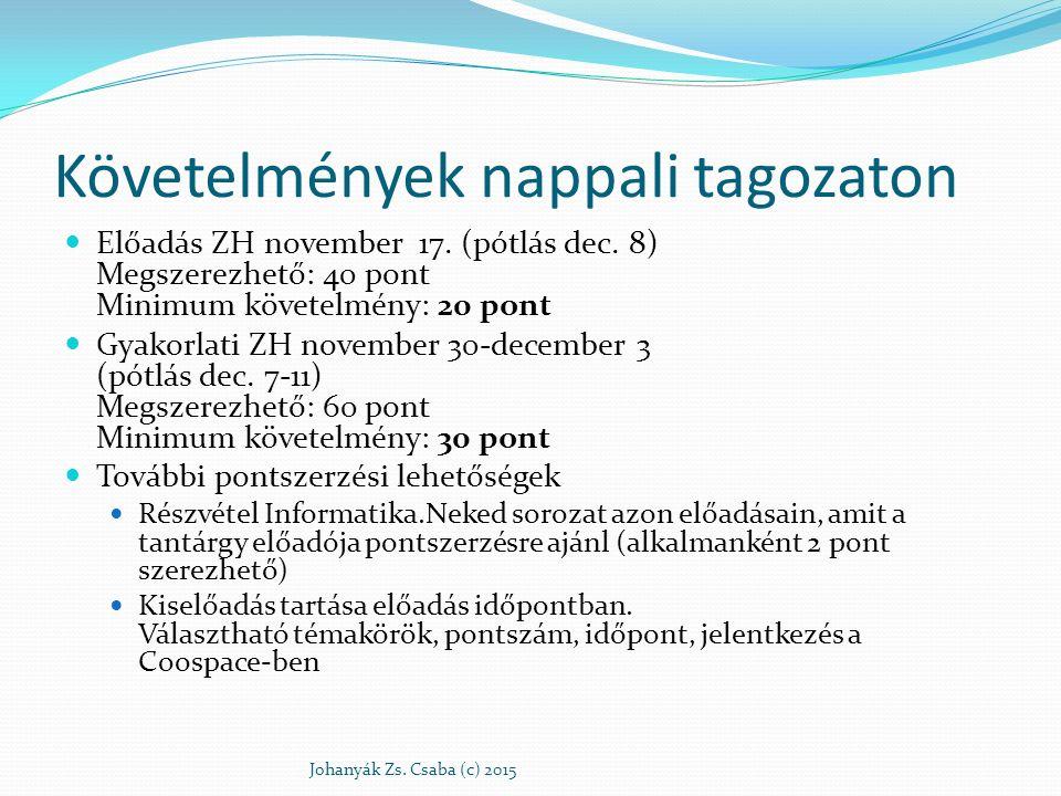 Hatókörök értelmezése Johanyák Zs.