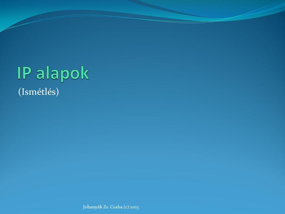 APIPA ( Automatic Private Internet Protocol Addressing ) A Microsoft otthoni és kisebb irodai hálózatokhoz vezette be olyan helyekre, ahol bizonyosan nincs kiszolgáló, mert nem érné meg, és nincs szaktudás sem a hálózat konfigurálására.